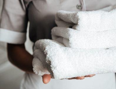 Maid with Towels | The Kilbrackan Arms Hotel | Bar | Restaurant